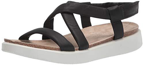 ECCO Women's Corksphere Ankle Sandal, Black, 7-7. 5