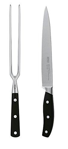 Rösle 25288 BBQ-Tranchierbesteck, schwarz, 35,8 x 11,3 x 2,7 cm