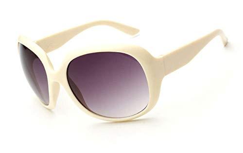 QPRER Gafas De Sol,Color Crema Elegante Mujer Punk Gafas De Sol Espejo Marco Grande Playa Protección Solar Gafas De Sol Hombres Vintage Gafas Pequeñas Ocio Al Aire Libre Práctico Gafas