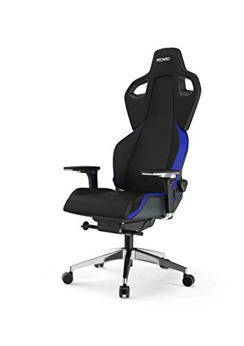 RECARO Exo FX Gaming Chair – Ergonomischer, höhenverstellbarer Stuhl für Gamer mit 5D-Armlehne – Racing Blue