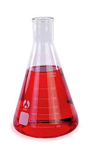 American Educational Borosilicate Glass (Bomex) 2,000mL Erlenmeyer Flask