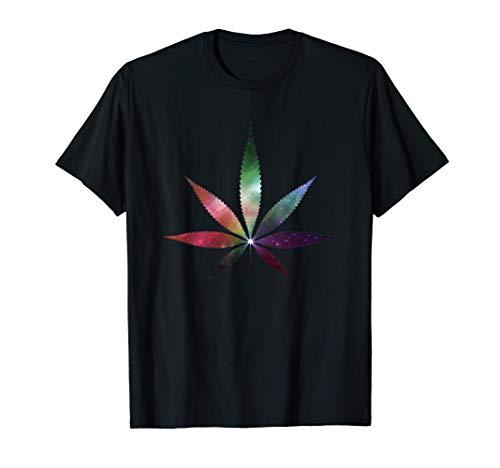 Cannabis Tee Kanabis Marihuana Galaxy Hanfblatt THC T Shirt T-Shirt