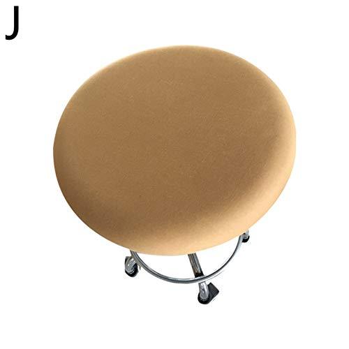 YAYANG Chair Cover Massivfarbe elastische runde Stuhlabdeckungen Baumwollstoffsitzetaschen für Hausküche Runde Stuhl staubdichte Abdeckungen Dekoration Casual (Color : J, Specification : 30 45cm)
