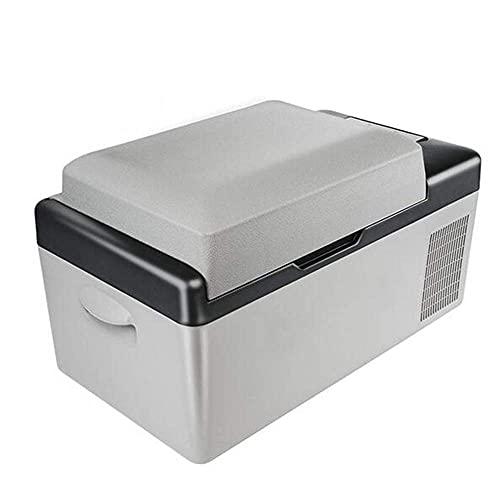 HRRF 12-24V DC 110-240V CA Coche Refrigerador 20L Funcionamiento multifunción Coche de refrigerador portátil Frigorífico Congelador Gris Gris Gris Bajo Consumo de energía