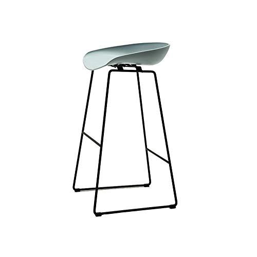 Mesa de comedor silla taburete nórdico simple verde gris taburete elegante minimalista hierro forjado bar silla moderno café alto escritorio taburete hogar