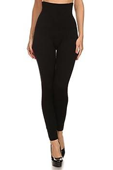 YELETE Women s High Waist Compression Leggings - One Size - Black