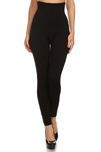YELETE Women's High Waist Compression Leggings - One Size - Black