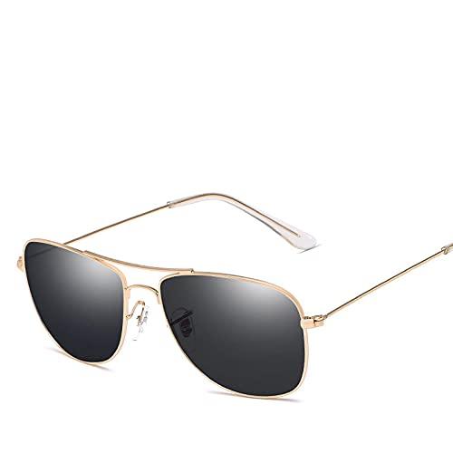 ShSnnwrl Gafas De Moda Gafas De Sol Gafas De Sol Mujer/Hombre Lente Superior Gafas De Sol para Mujer Conducción Al Aire Libre Doradogray