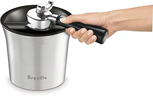 Breville The Knock Box Accessory, Brushed Stainless Steel BCB100BSS, Grey