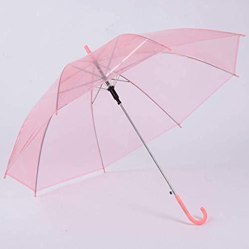 DXX Mango largo Paraguas 8 Bone paragüero transparente Plastic Girl lindo paraguas protector solar,C