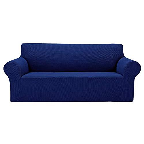 CENPENYA 1 funda para sofá de jacquard, elástica, spandex, para sofá, con base elástica, para niños, mascotas (S, azul)