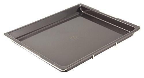 Dr. Oetker Backblech Emaille, rechteckiges, ausziehbares Ofenblech für jeden Backofen, für Kuchen & Pizza, individuell verstellbar, schnitt- und kratzfeste Oberfläche, (Farbe: grau), Menge: 1 Stück
