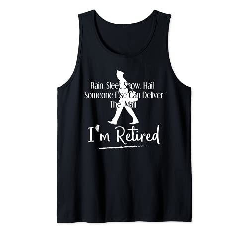 Funny Postal Worker Retirement Design For Mailman Men Women Tank Top