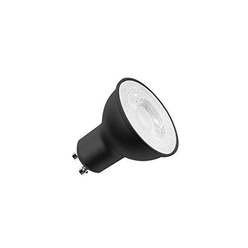 SLV Bombilla LED QPAR51 4000 K/bombilla, LED, GU10, 4000 K, 6 W, 460 lm, color negro regulable