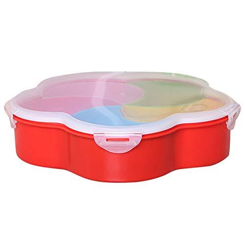 Faviye Storage Box Snack 5 Grid Food Box Dispenser Snacks con Tapa para el hogar