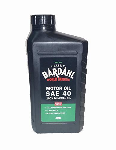 BARDAHL Classic Motor Oil SAE 40 100% Minerale Per Lubrificante Motori Benzina Da 1900 A 1950 1 LT