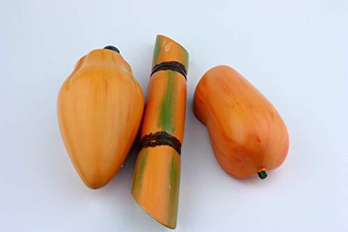 Tropische Kaufladenfrüchte, Zuckerrohr, Mango und Papaya