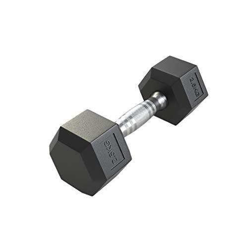 WYH Hantel Gummi Hex Dumbbells Gewicht mit Metallgriff Hand Gewicht-Training und Übung for Männer Frauen Muskeltraining Hanteltraining (Gewicht : 2.5Kg)