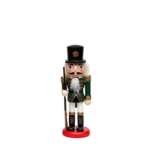 Dekohelden24 Holz Nussknacker als Soldat, L/B/H: 6,5 x 6,5 x 20 cm.