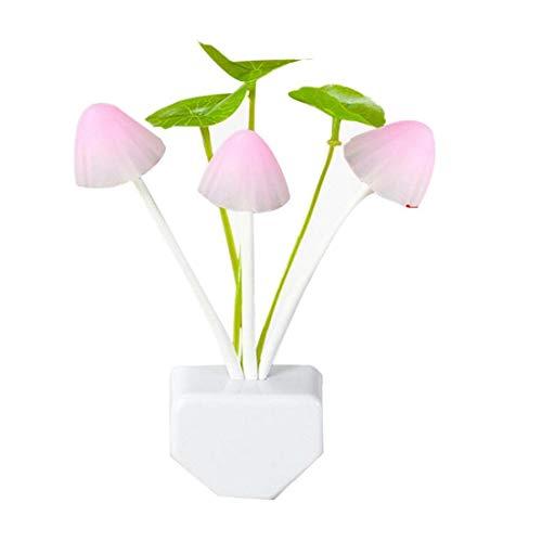 TOPofly EU Plug-in -Pilz-Nachtlicht-7-Farbe ändern Light Sensor Wandleuchte Bett Lampe für Schlafzimmer Badezimmer Wohnzimmer 1PC für die Bequemlichkeit des Lebens