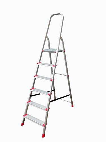 Leiter Aluleiter Trittleiter Haushaltsleiter Alu Malerleiter Stufenleiter 6 Stufen