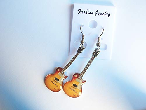 Stainless Guitar Shaped Earrings