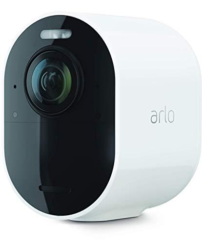 ArloUltra2 Spotlight WLAN Überwachungskamera | Kabellos, Innen / Aussen, 4K Video & HDR | Nachtsicht in Farbe, Bewegungsmelder, 2-Wege-Audio, 180°-Blickwinkel | VMC5040 | Weiß | SmartHub benötigt