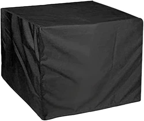 JIU SI Cubierta Impermeable para Mesa de Patio, Fundas para Muebles de Exterior para Invierno, Tela Oxford Resistente a rasgaduras, Cubierta Grande para Juego de Patio, Resistente al Viento