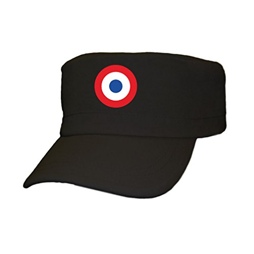Copytec Frankreich Air Force Feldmütze Abzeichen Luftwaffe Wappen France - Kappe #4093, Farbe:Schwarz