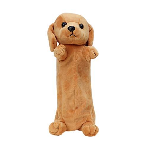 Wenasi Cute Cartoon Animal Design Soft Stuffed Plush Pencil Box Case Pen Bag Doll Toy (Golden Retriever)