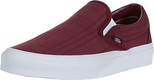 Vans Men's Classic Slip-On Tonal Plaid Skate Shoe (Port Royale/True White, Numeric_8_Point_5)