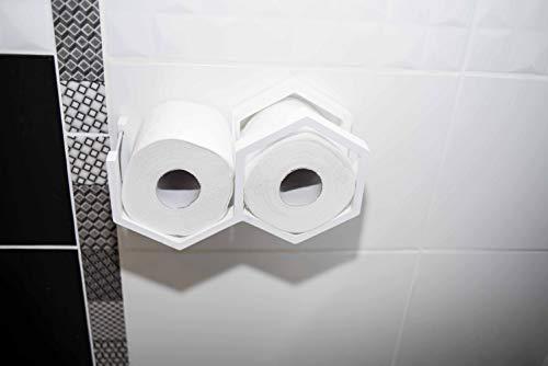 Hout toiletpapier houder modern toiletpapier plank kleine honingraat toiletpapier houder Kleur: wit