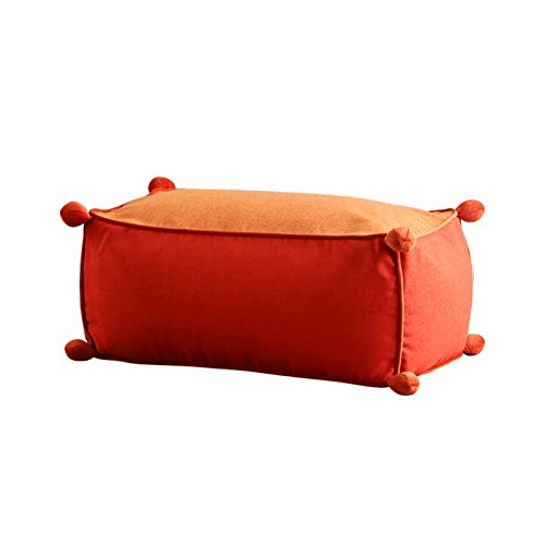 FINDYU Bean Bags With Particle Filling, Comfortable Washable Cover Footrest For Kids Adults Living Room Bean Bags (Color : Red)