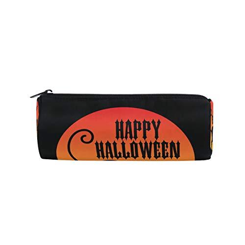 DEZIRO Happy Halloween mit schwarzer Katzentrommel für Studenten, Schreibwaren, Tasche mit Reißverschluss