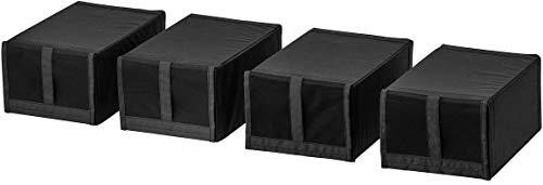 IKEA SKUBB - Zapatero (4 unidades), color negro