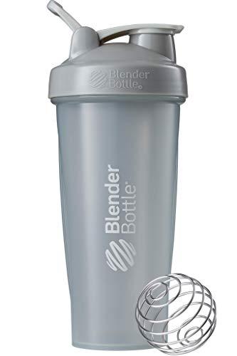 BlenderBottle Classic Loop Shaker mit BlenderBall, optimal geeignet als Eiweiß Shaker, Protein Shaker, Wasserflasche, Trinkflasche, BPA frei, skaliert bis 600 ml, 820 ml, pebble grau