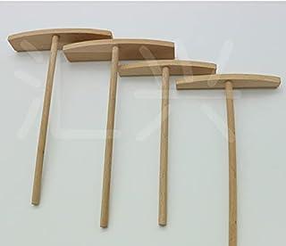 DERCLIVE 10 st trä kräppsmet spridare trä T-form spridare pinne pannkaka smet kaka pannkaka putter rund mat bakverk verktyg
