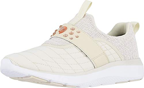 Vionic Women's Delmar Dianne Walking Shoes - Ladies Casual Sneakers with Concealed Orthotic Arch Support Cream 8 M US