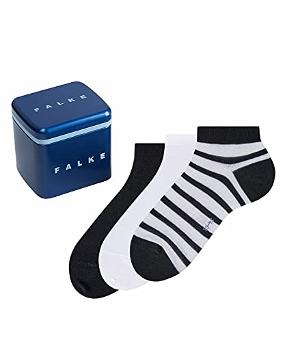 FALKE Happy Box 3-Pack Herren Sneakersocken sortiment (0020) 39-42 mit Kompakt-Baumwolle