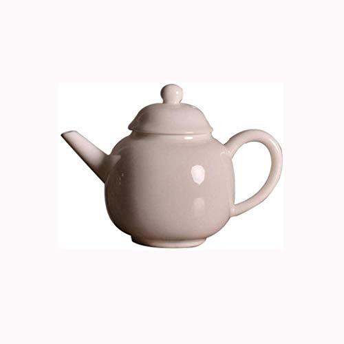 DSEKO Ceramic Teapot – Tea Set, White Teapot, Hand Made in A Single Pot, 220 Ml Small Teapot, Tea Maker