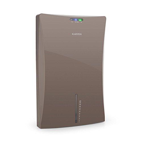 Klarstein Drybest 2000 2G - Deumidificatore, Filtro aria, Depuratore elettrico, 0,7 litri / 24 h, Compressore economico da 70 watt, Serbatoio acqua 2l, Compatto, Ionizzatore integrato, grigio