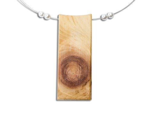 4betterdays.com NATURlich leben! Holzschmuck/Halskette aus Zirbenholz - Silberband aus Schmuckdraht - Handgemacht in Österreich