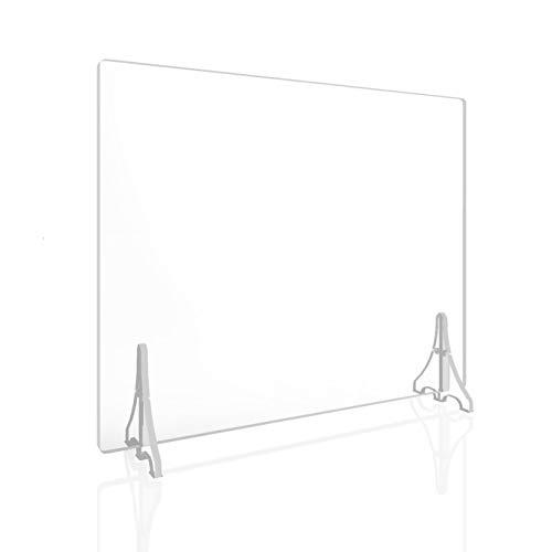 【5枚セット】飛沫防止パーテーション90cm×60cm 組立て簡単 日本製 安全設計 高透明PETで割れにくい 即日発送 カウンター、テーブル、オフィス向け ASTPT6090 (5枚入り)