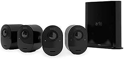 Arlo Ultra 2 Spotlight, Sistema di Videosorveglianza WiFi con 4 telecamere 4K + base, Faro e Sirena integrati, Sensori...