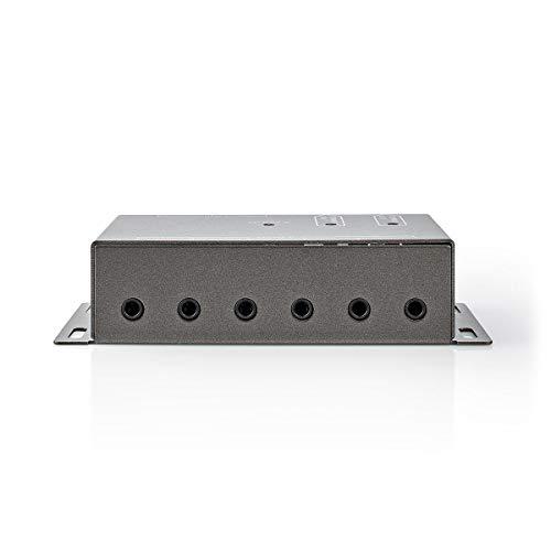Infrarot-Fernbedienungserweiterung   30-60 kHz   Für 6 Geräte   10,0 m Reichweite   Anthrazit
