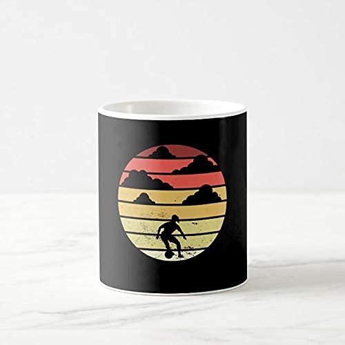 N\A Taza de café Divertida, Taza de café de fútbol para niña, Taza de café de 11 onzas, Taza de té o café, Taza de café novedosa, Regalos para Mujeres y Hombres