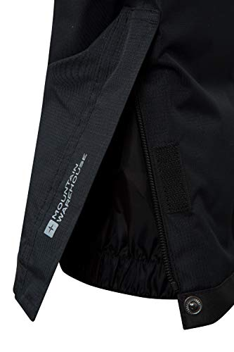 Mountain Warehouse Raptor Kids Snow Pants - Snowproof Boys Ski Trousers, Detachable Braces Bottoms - Ideal for Winter Skiing Holidays & Snowboarding Black 11-12 Years