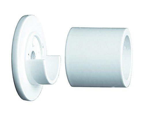 tilldekor Wandlager für Gardinenstangen, weiß,Ø 20 mm, inkl. Montagematerial