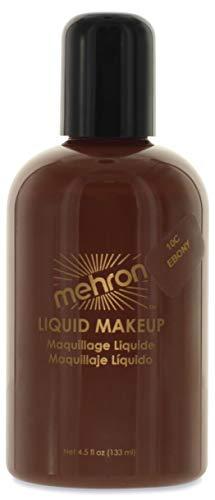 Mehron Makeup Liquid Face & Body Paint (4.5 ounce) (Ebony)
