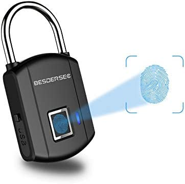 Fingerprint Padlock Outdoor Smart Biometric Thumbprint Keyless Lock One Touch Unlock Portable product image